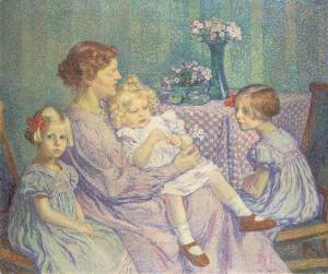 9155_Madame_van_velde_enfants-Theo_Van_Rysselberghe(c)Les_amis_du_petit_Palais