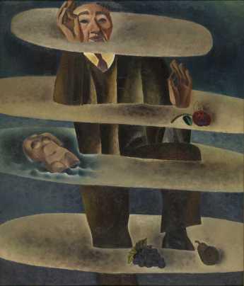 Frits Van den Berghe, L'homme des nuages, 1927, huile sur toile. MRBAB, Bruxelles, inv. 7238 — © MRBAB, Bruxelles, photo : J. Geleyns